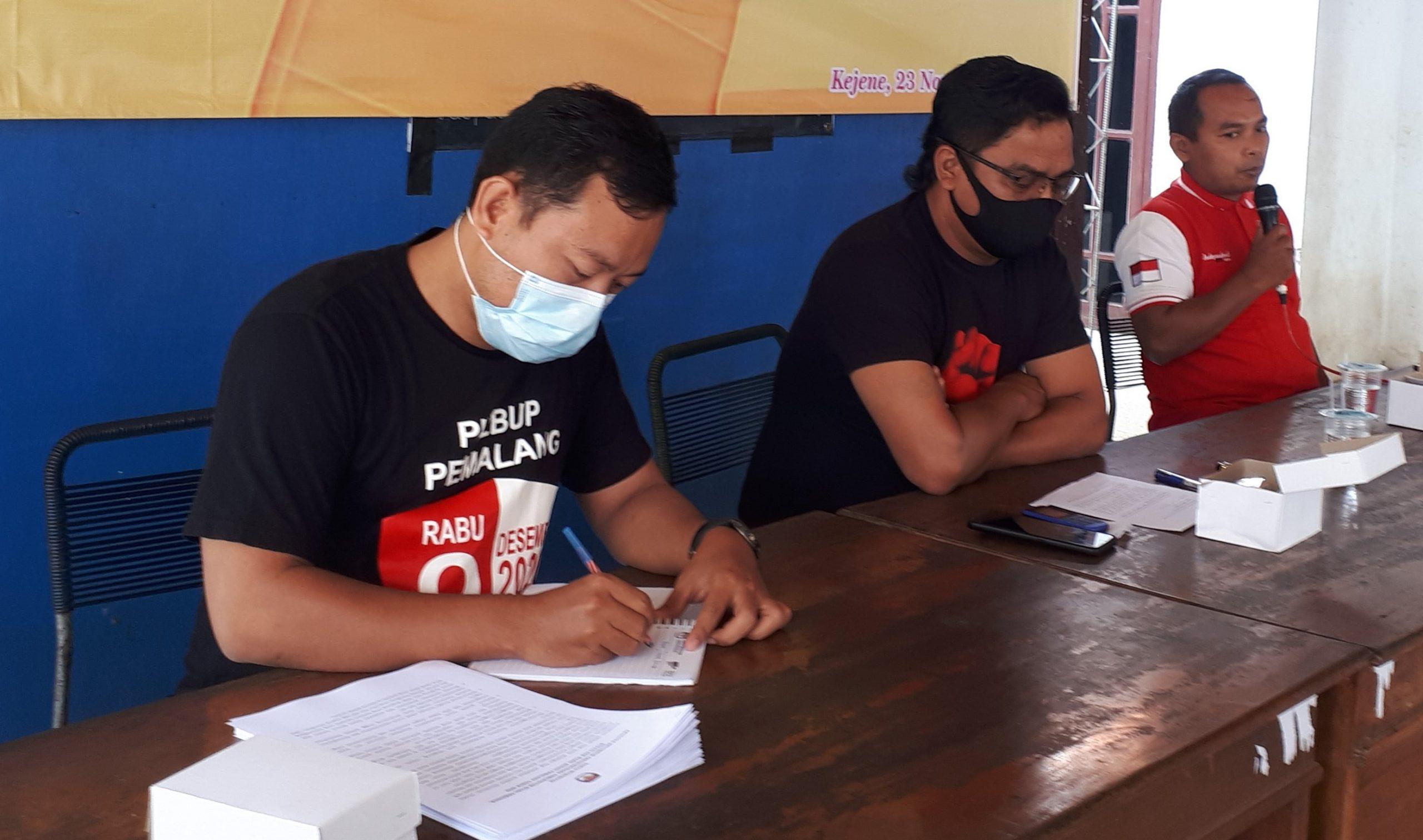 Rapat Koordinasi Linmas TPS Desa Kejene pada Pilbup Pemalang Tahun 2020